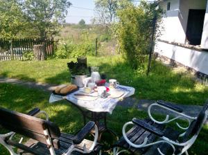 Helyi termék reggeli, gyönyörű kilátással-Bernecebaráti